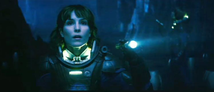 Dr. Shaw, as played by Noomi Rapace, is both fascinated by the possibilities in space exploration but remains cautious about what-or rather who-to expect out there. (20th Century Fox)
